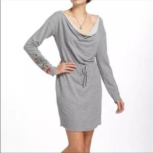 Anthro Dolan Port Terry Embroidered Dress